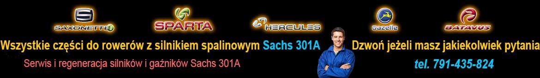 Rowery z silnikiem spalinowym Sachs 301A